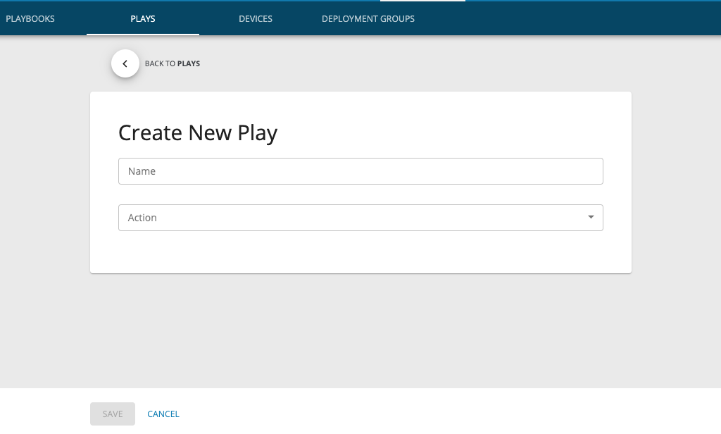 Create New Play
